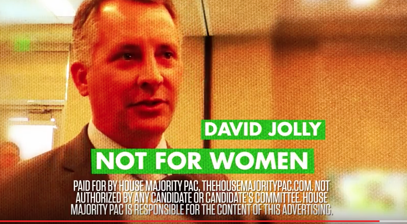 A New Ad Produced By The House Majority PAC Features Several Pinellas  County Women Describing Congressman David Jolly As U201cdangerous,u201d  U201cbackwards,u201d And U201cout ...