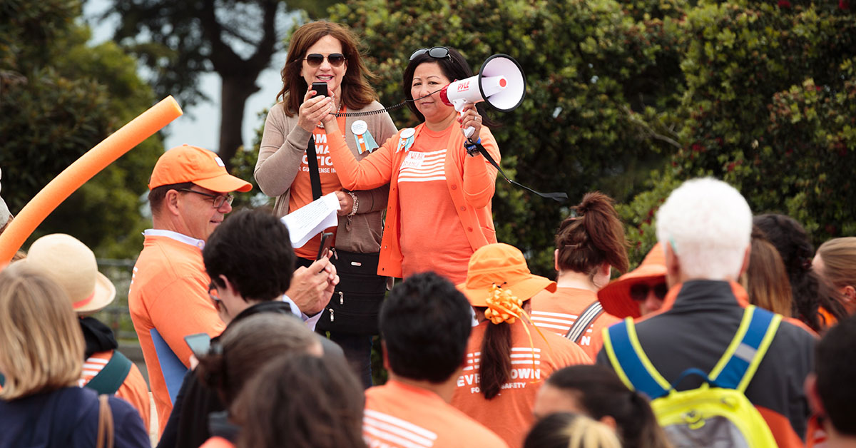 Actress Julianne Moore urges Americans to mark gun violence awareness day