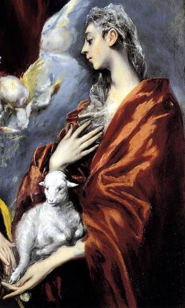 St Agnes, by El Greco, of course.