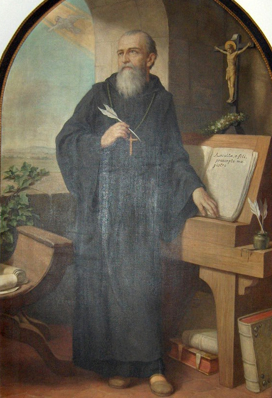 St. Benedict of Nursia, proving that good guys really DO wear black.