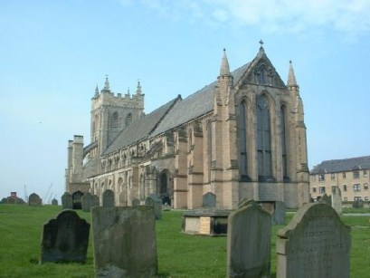 St. Hilda's Church, Hartlepool. Built over the original abbey founded by Hieu. Hilda became the second Abbess