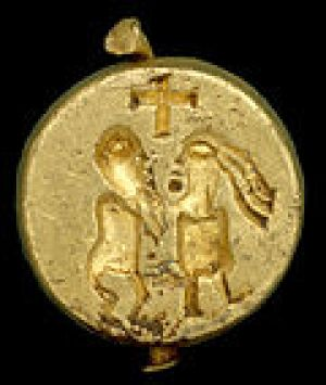 Bathilde's gold seal matrix found in Norfolk area.