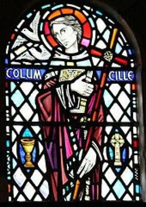 Stained Glass in Iona Abbey of St. Columba