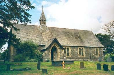 Gywtherin Parish Church, Clywd. Likely in area where the double monastery was where Winifred was Abbess