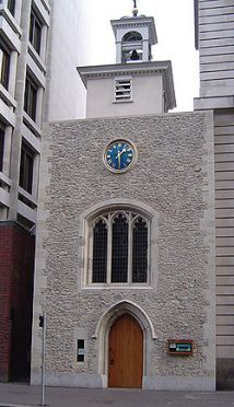 Restored St. Ethelburga the Virgin Church that is now a center for reconciliation and peace