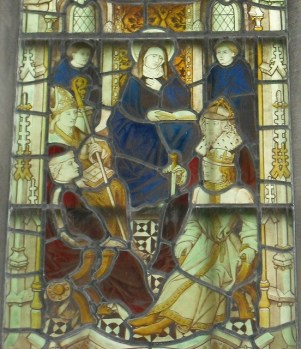 St. Hilda presiding at the Synod of Whitby. Unknown artist