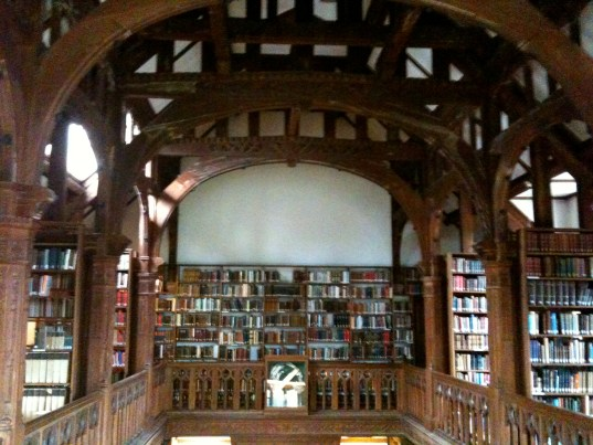 Inside the Library of Gladstone's Library. Picture taken Sept. 2009