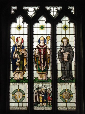 St. John of Beverley with ST. Benedict and The Venerable Bede. from geograph.org.uk