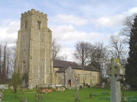St. Gregory's Church, Rendlesham where the royal castle may have been. I visited here 2012.photo from geograph.org.uk