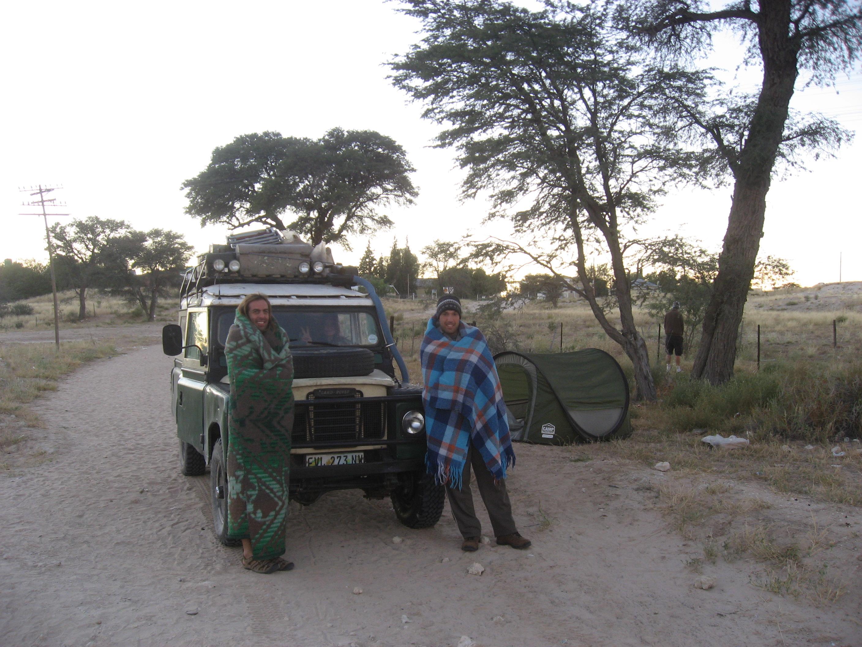 Frio no Kalahari