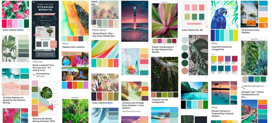 Color palette examples