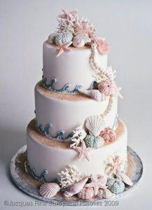 tarta de bodas sirena