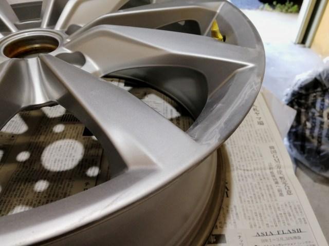 VW 17インチシルバーホイール修理中