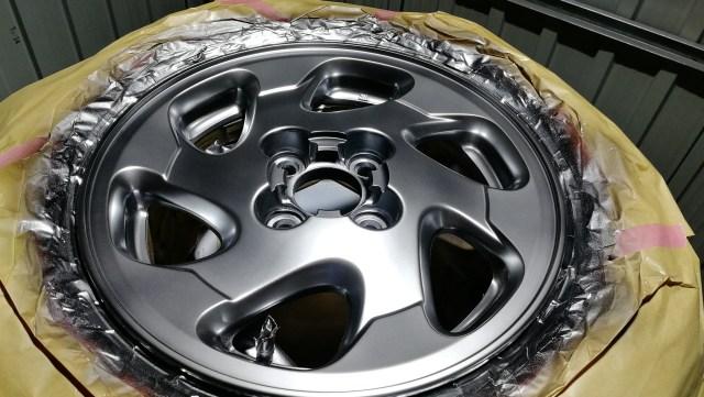 日産 14インチ 純正ホイール ハイパーシルバー カラーチェンジ 銀幕塗装