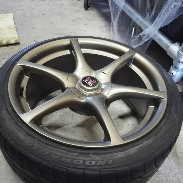 スカイライン R34 GT-R 純正18インチホイール カラーチェンジ後