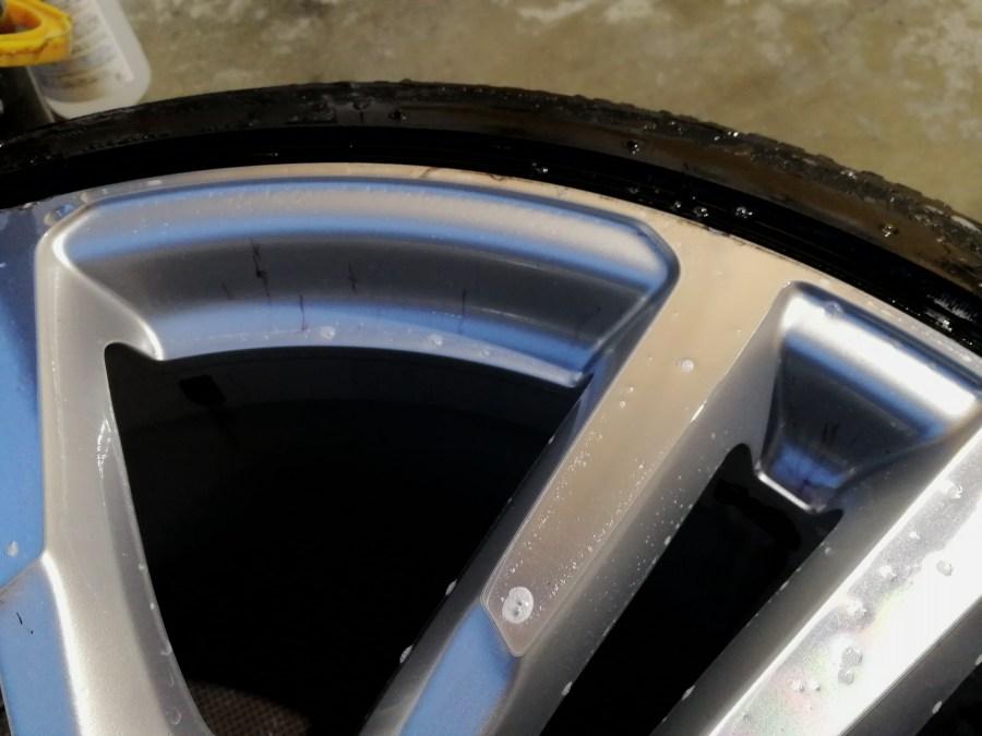 VW ダイヤモンドカットホイールガリ傷修理 鉄粉取り
