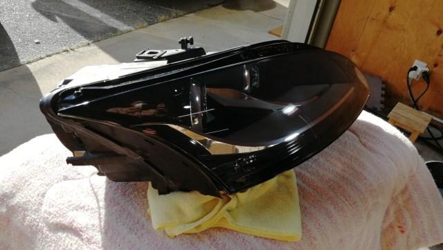 アウディTTクーペ ヘッドライトコーティング スパシャン ヘッドライトスチーマー2 SPEED 施工後
