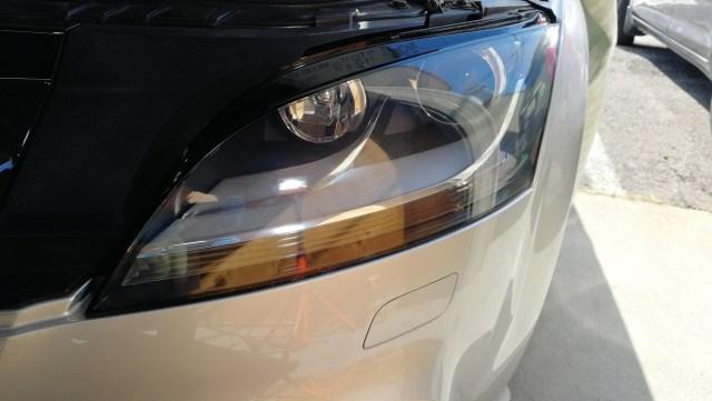 アウディTT RS ヘッドライトコーティング スパシャンヘッドライトスチーマー2 豊田市 コンパウンド仕上げ