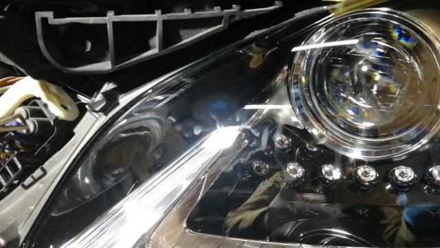レクサス LS430h スパシャンヘッドライトコーティング 施工後