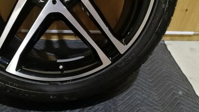 メルセデスベンツ GLE   AMG 21インチ ブラックポリッシュ ガリキズ修理後