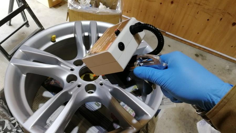 BMW 純正18インチホイール 艶消しブラックカラーチェンジ 刈谷市 イオンシャワーブローガン