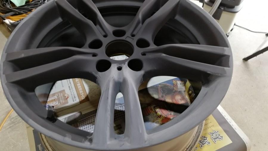 BMW 純正18インチホイール 艶消しブラックカラーチェンジ 刈谷市 プライマー塗装
