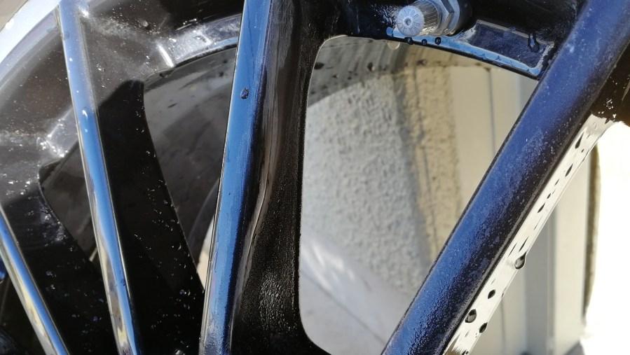 ポルシェ パナメーラ 純正オプション スポーツデザイン ブラック 20インチホイール修理 洗浄