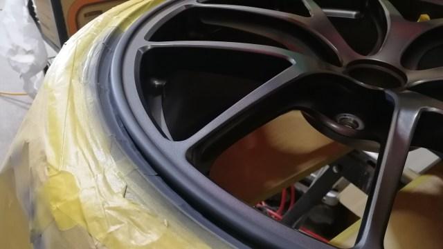 BBS RI-A037 マットグレイ(MGR) ガリ傷修理 刈谷市 プライマー