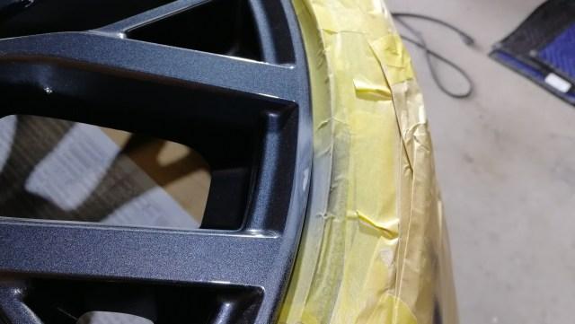 スバル WRX Sti Type S 純正ホイール傷修理 パテ成形