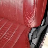 メルセデスベンツ AMG SL63 赤革シート擦れ補修前