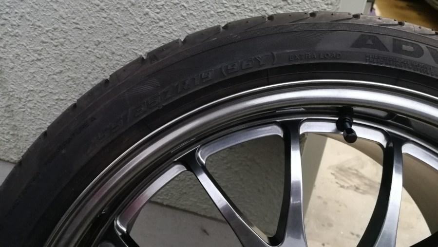 BMW 320d NEEZ  EURO CROSS RG16SR ハイパーブラック ホイール傷修理後
