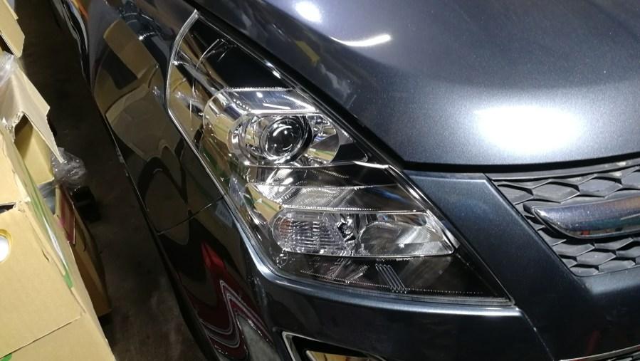 マツダ MPV ヘッドライトコーティング スパシャン ヘッドライトスチーマー 施工後