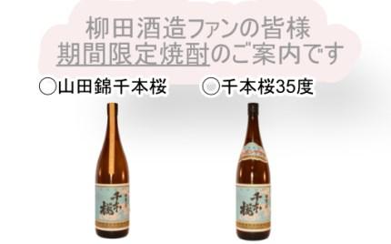 柳田酒造山田錦と千本桜35度
