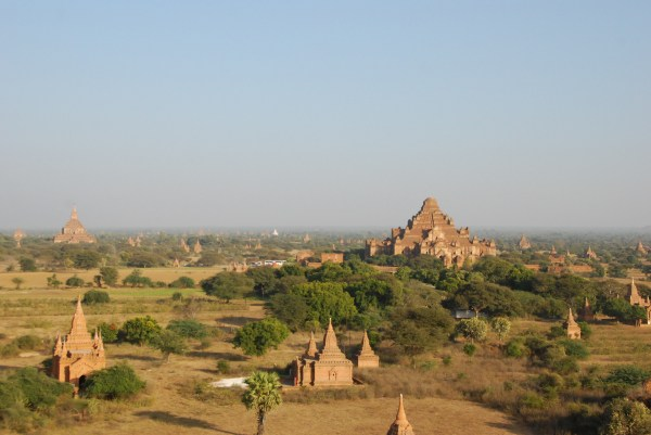 Pagodas dot the landscape in Bagan