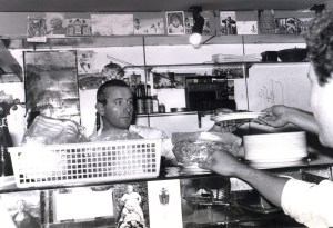Nelson Graves, Director of Student Recruitment and Admissions, submitted this photo of last week's profile, Ivo Rosetti, who is picture here from his days working behind the counter at SAIS Europe. (Nelson Graves)
