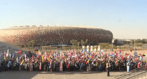 More than 1200 delegates from 190 countries descended on the Soccer City stadium in Johannesburg, South Africa on Oct. 2 for the opening ceremony of the One Young World conference.