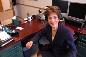 Dean Bonnie Wilson sits in her office. (Sarah Rashid)