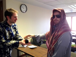 Mark Radin (L) as the General Secretary of China stands with Nate Rozelle as King Abdullah of Saudi Arabia. (Jory Bentley)