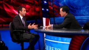 SAIS Professor Ömer Taşpinar, Ph.D. on the Colbert Report Credit: Colbert Report