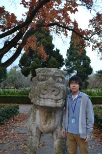 Lion and author