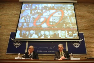 Finance Minister Padoan (left) and Director Plummer (right). (Courtesy of SAIS Europe)