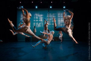 Dancers perform in Act 1 of creature in an intricately woven repeating series of movements. (Photo: Enoch Chan)