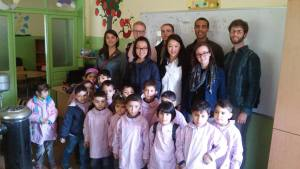 The eight SAIS Europe students who went to Lebanon met with a Mufti in the city of Baalbek and learned about what he is doing to help Syrian refugee children by providing education. (Photo: Patrick Rear)