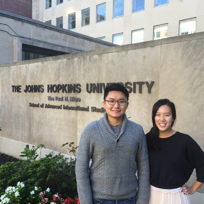 Hengrui Liu (left) and Nathasha Soon (right)