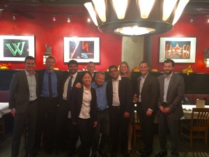 The winning team celebrates after the end of the Deloitte Case Competition in November (Photo Courtesy: Karina Panyan)