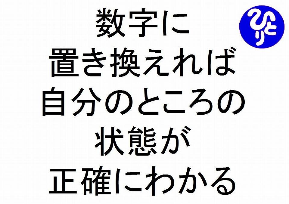 数字に置き換えれば自分のところの状態が正確にわかる斎藤一人26