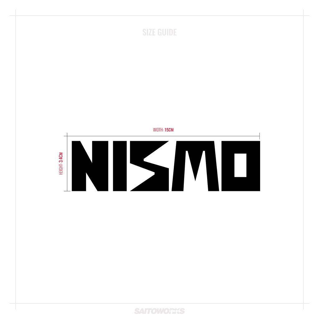 Retro Nismo Sticker Logo Decal Nissan Motorsports Jdm R32