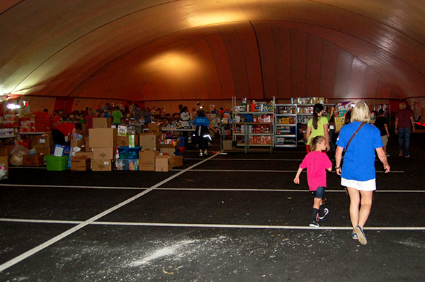 Distribution center for relief supplies