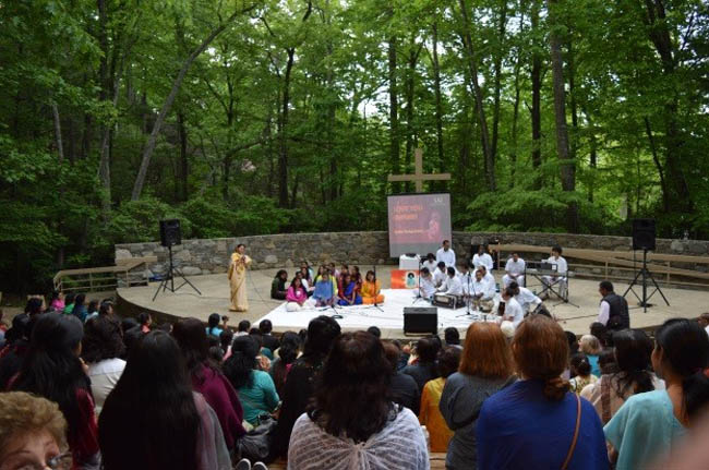 Devotees at retreat in South-East USA
