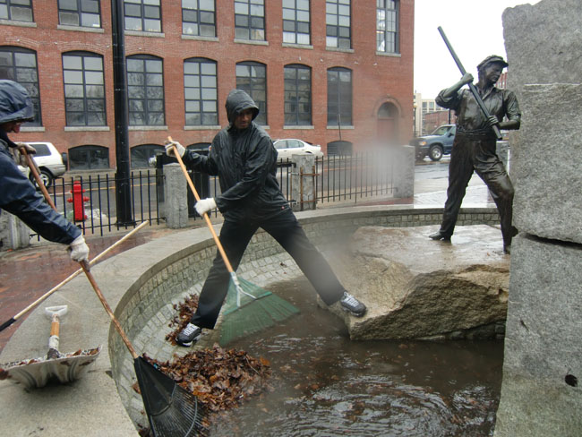 Cleaning up Lowell Heritage National Park near Boston